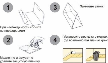 Форс-сайт 5 пластин от крыс клеевая ловушка-контейнер